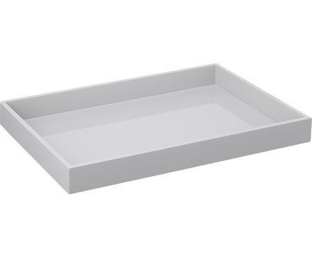 Hochglanz-Tablett Hayley in Grau