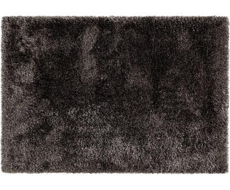 Glänzender Hochflor-Teppich Lea