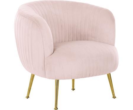Fluwelen fauteuil Cara