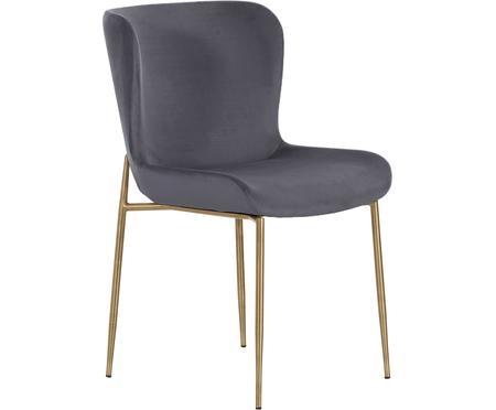 Sametová čalouněná židle Tess