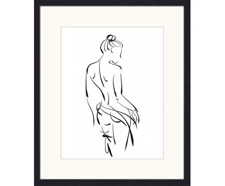 Oprawiony druk cyfrowy Naked Woman