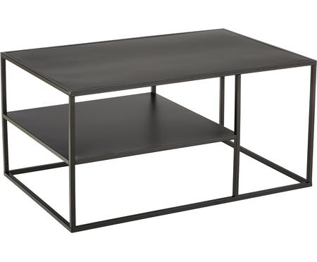 Metalen salontafel Newton in zwart