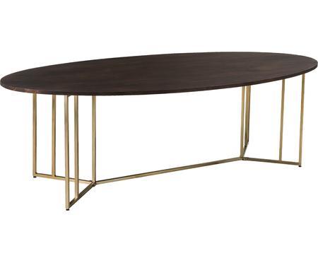 Tavolo ovale in legno massello Luca