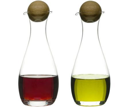 Komplet dozowników na ocet i oliwę ze szkła dmuchanego Eden, 2 elem.