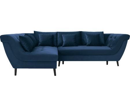 Sofa narożna z funkcją spania z aksamitu Real