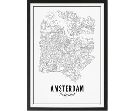 Impresión digital enmarcada Amsterdam