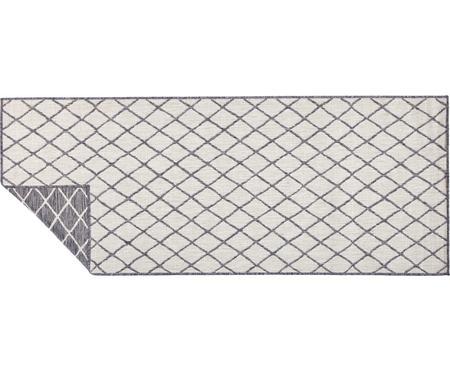 Tapis réversible intérieur-extérieur gris/crème Malaga