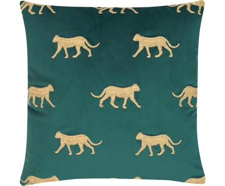 Vyšívaný sametový povlak na polštář Cheetah