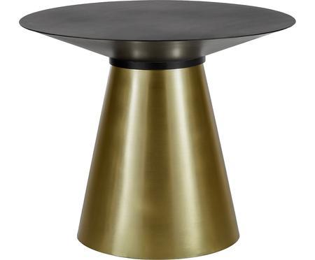 Runder Esstisch Selena mit schwarzer Platte