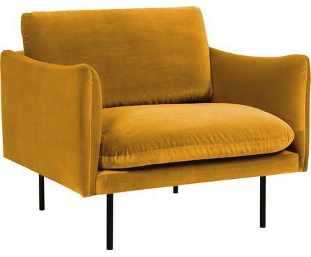 Fluwelen fauteuil Moby