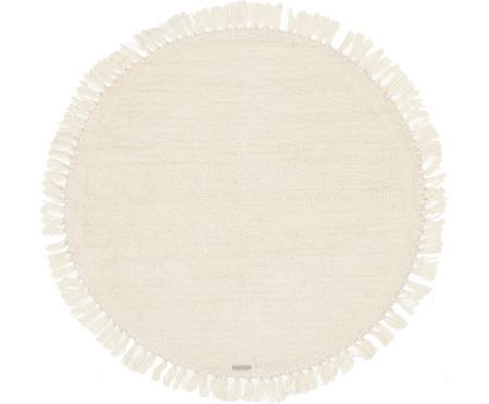 Okrągły dywan z wełny z frędzlami Alma