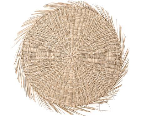 Mantel individual redondo de seagrass Whirl