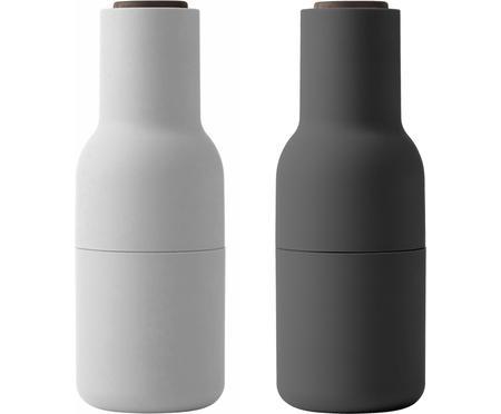 Designer Salz- & Pfeffermühle Bottle Grinder mit Walnussholzdeckel