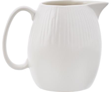 Handgefertigtes Milchkännchen Sandvig mit leichtem Rillenrelief