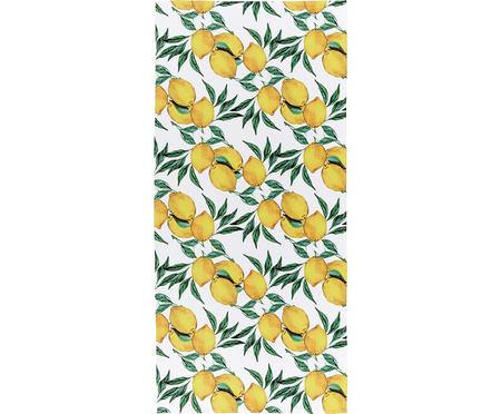 Telo mare leggero con stampa limoni Lemon