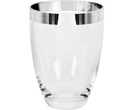 Mundgeblasene Vase Charlotte aus Platinglas