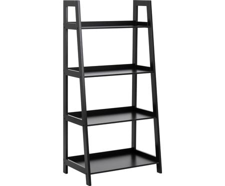Ladder wandkast Wally in zwart