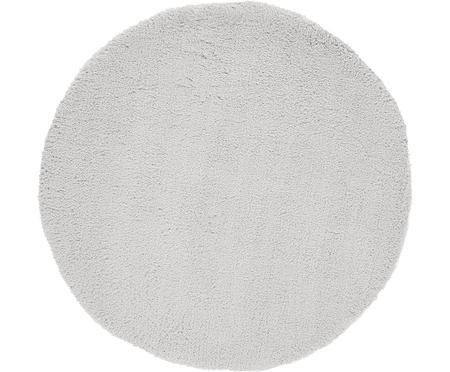 Tappeto peloso rotondo grigio chiaro Leighton