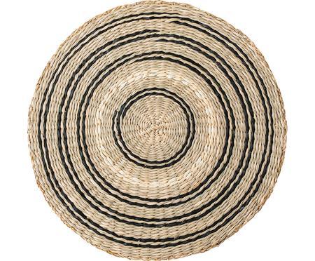 Ronde placemat van zeegras Kama