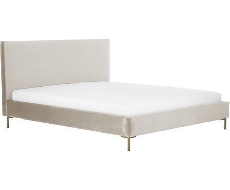 Łóżko tapicerowane z aksamitu Peace