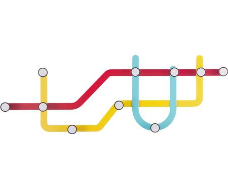 Perchero de pared de diseño Subway