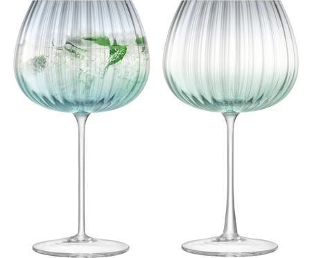 Sada ručně vyrobených sklenic na víno sbarevným přechodem Dusk, 2 díly