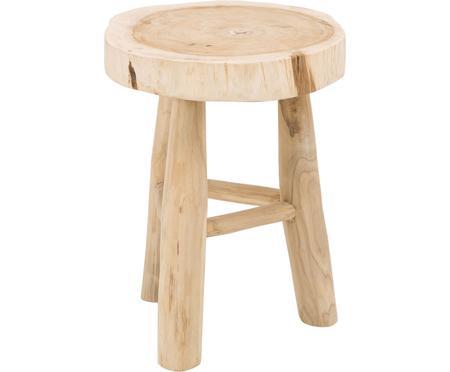 Okrągły stołek z drewna Beachside
