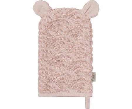 Manopla de baño de algodón ecológico Wave