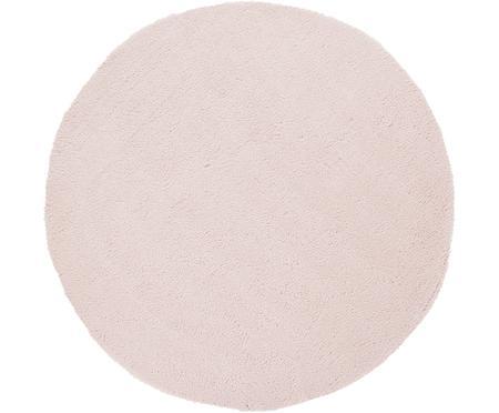Tappeto peloso rotondo rosa chiaro Leighton