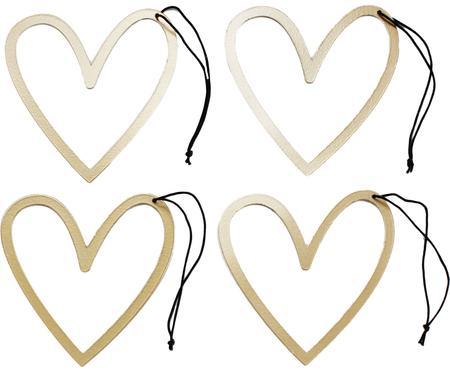 Étiquettes pour cadeau Heart, métal, 4pièces