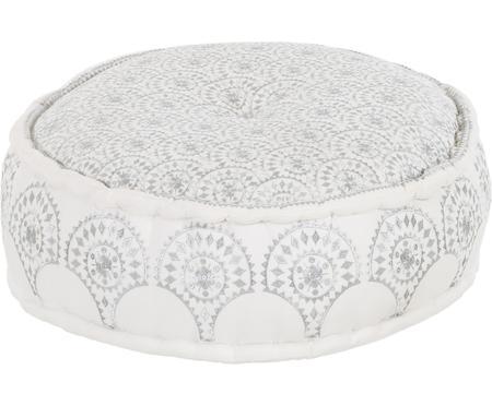 Okrągła haftowana poduszka podłogowa Casablanca
