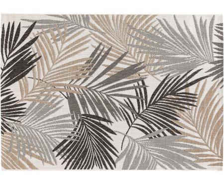 In- & Outdoor-Teppich Cleo mit elegantem Palmenblattmotiv