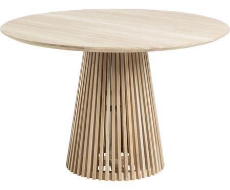 Okrągły stół do jadalni z litego drewna Jeanette