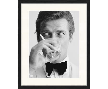 Stampa digitale incorniciata James Bond Drinking