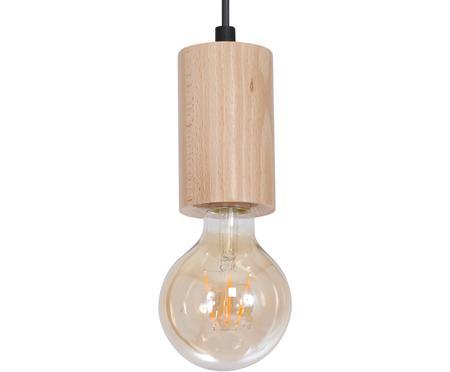 Lampa wisząca z drewna Lines
