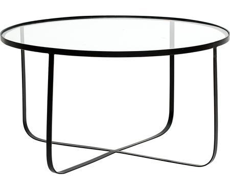 Kovový konferenční stolek se skleněnou deskou Harper