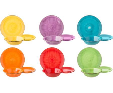 Service de table multicolore Baita, 6personnes (18élém.)