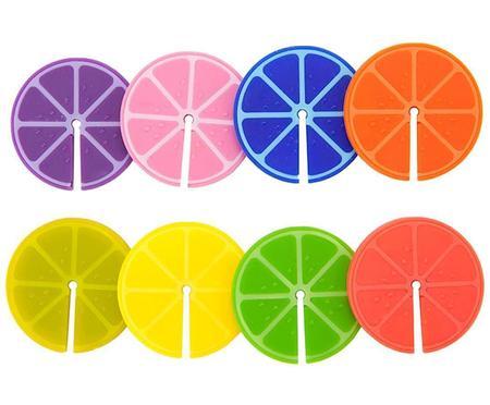 Identificadores de copas Fruit Party, 8uds.