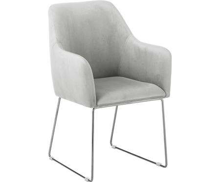 Moderní sametová čalouněná židle Isla