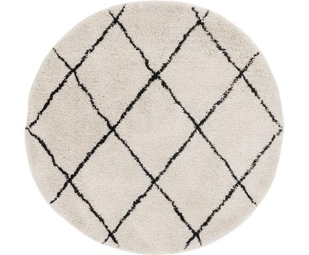 Ručně všívaný kulatý koberec Naima