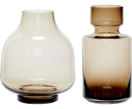 Ensemble de vases en verre Mary-Jane, 2élém.