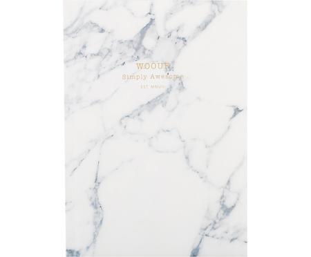 Notizbuch White Marble
