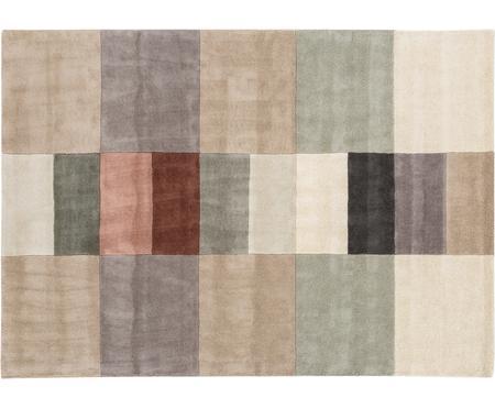 Handgetufteter Designteppich Impilati aus Wolle