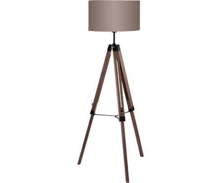 Stehlampe Matilda aus Holz, höhenverstellbar