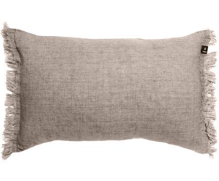 Cuscino in lino con frange Levelin