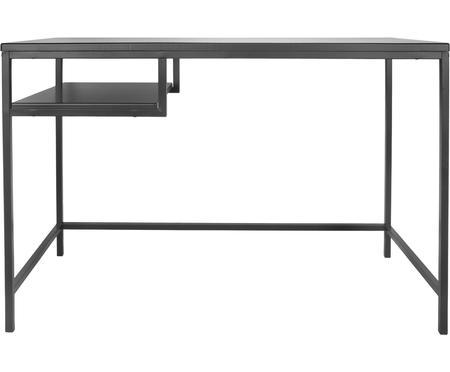 Metall-Schreibtisch Fushion in Schwarz