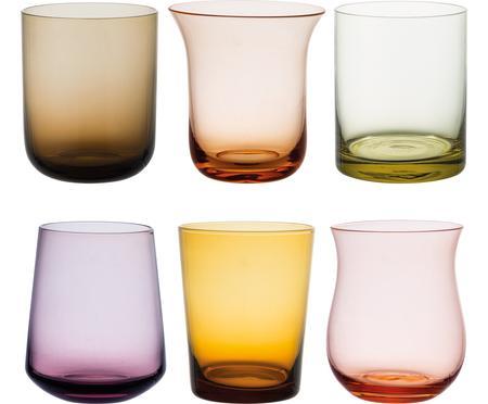 Vasos de vidrio soplado Desigual, 6uds.