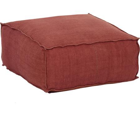 Cuscino da pavimento in lino fatto a mano Zafferano