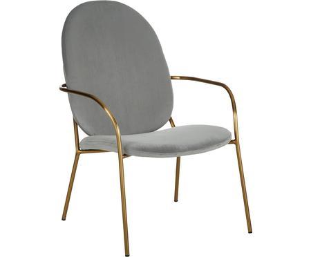Fotel koktajlowy z aksamitu Mary