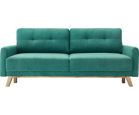 Sofa rozkładana z aksamitu Balio (3-osobowa)